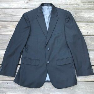 Kenneth Cole Men Blazer Black Wool Slim Fit Sport